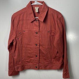 J Jill Jean jacket cotton linen rust women's small